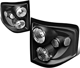 For 2004-2008 Ford F150 Flareside Pair Black Housing Altezza Style Tail Light Brake/Parking Lamps