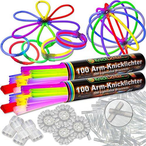 200 glowsticks 7-kleurig mix, testscore 1,4