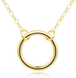 """Embolden Jewelry Open Circle Necklace (BFF, Friendship, Bridesmaid) Gift Ready - Gold Plating Over Brass 18"""""""