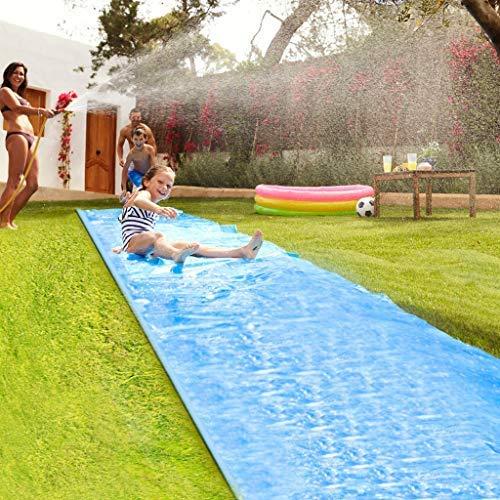 WXZJ Toboggans Aquatiques De 8 Mètres, Tapis De Glisse Qualité Premium, Tapis De Glisse Géant, Tapis De Glisse Eau Adulte Enfant, Toboggan Aquatique de Jardin, Jeu Eau Plein Air pour House Party