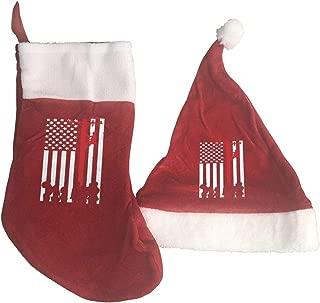 Negi Lineman Lineman 2PCS Christmas Stocking and Christmas Hat Home Decoration