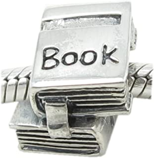Beads Hunter .925 Solid Silver Book Reader Graduate Owl Charm with Cap Lucky Hat Fits 3 mm European Bracelets