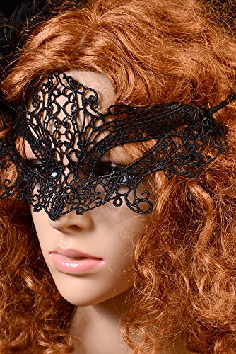 JapanAttitude Masque de bal noir en dentelle masquerade élégant gothique vénitien