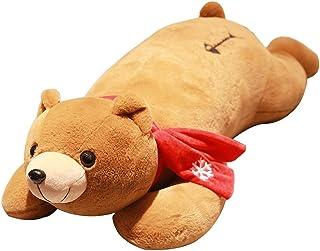Sxmy Plyschleksak kram björn docka kudde bandkudde söt säng docka flicka födelsedagspresent, brun - 130 cm