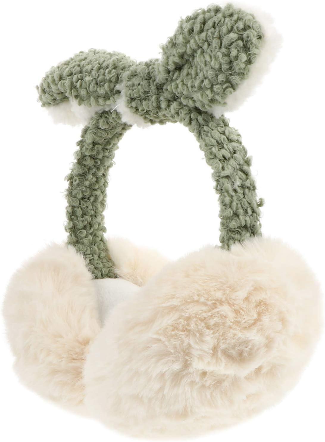 NUOBESTY Winter Earmuffs Ear Warmers Cover Headband for Women Men Outdoor Sports Cold Weather Beige
