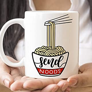 WTOMUG You will always be my best Send Noods Funny Coffee Mug Ramen Noodle Cup and Ceramic Coating