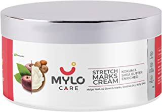 Mylo Care Stretch Marks Cream for Pregnancy with the Goodness of Shea Butter, Saffron, Kokum Butter and Aloe Vera, Austral...