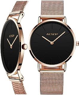 Amazon Watch Lady Watch Ultra Thin Dress Watch for Women,Simple Wrist Watch for Men,Classic Men Watch Stainless Steel Mesh Watch