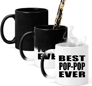 Best Pop-Pop Ever - 11oz Color Changing Mug Magic Tea-Cup Heat Sensitive - Fun-NY Idea for Friend Mom Dad Kid Son Daughter Taza Que Cambia de Color de 33cl - Regalo para Cumpleaños Aniversario el D