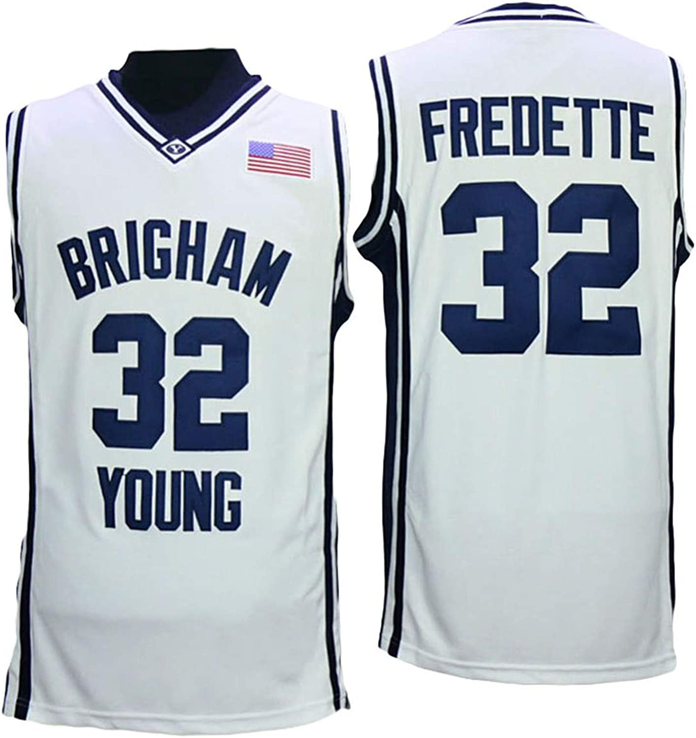 Lusam feeling BYU Brigham Young University 32 College Basketball Jersey White