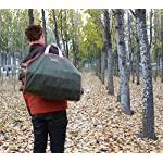 INNO STAGE Canvas Log Carrier Bag,Waxed Durable Wood Tote,Fireplace Stove Accessories,Extra Large Firewood Holder with… 4