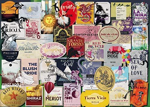 Ravensburger Puzzle 1000 Pezzi, Etichette di Vino, Jigsaw Puzzle per Adulti, Puzzle Ravensburger - Stampa di Alta Qualità