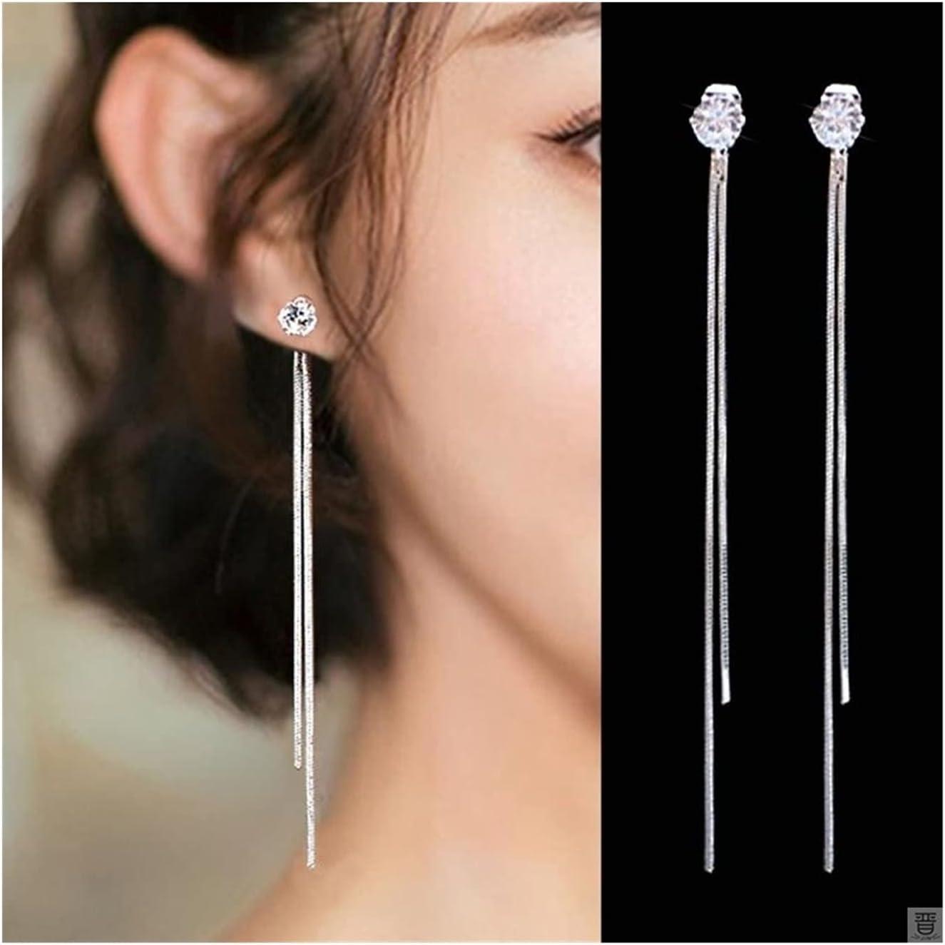 WAZG SYBLD Fashion Earrings Wedding Pendant Earrings Fashion Jewelry Earrings (Metal Color : 83)