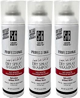 Set of 3 Salon Grafix Invisible Dry Spray Shampoo - 5.6 oz can 034044120998