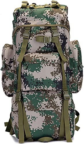 TY-Outdoor backpack Mmm @ Sac à Dos de randonnée Camo, Sac à Dos Tactique imperméable Extérieur Sport Voyage Trekking Course Mens Grande capacité Sac à Dos