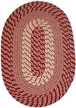 """product image for Constitution Rugs Plymouth 20"""" x 30"""" Braided Rug in Dk Claret Red"""