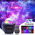 LED Night Light Projector, 3 in 1 LED Galaxy Starry Light Projector for Bedroom, Ocean Wave Projector Light Decorative Galaxy Light Sky Star Lite w/Sound Activated for Kids, Baby, Adults, Holidays