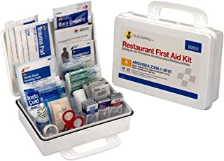 25 Person First Aid Kit, ANSI A, Restaurant Bulk Kit Plastic Case - OSHA Emergency Kit Trauma Kit First Aid Kits for Restaurants