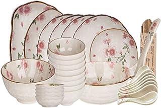 XY&CF Céramique Vaisselle, Arts de la Table d'halloween, 30 PieceKitchen de Vaisselle, Service for 8, Style Japonais Ceris...