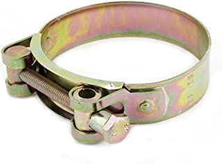 Aexit 26mm to Hose Clamps 28mm Pipe Hose Clamp Clip Fastener Ratcheting Hose Clamps Brass Tone