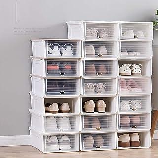 MU Boîte de Rangement Portable à la Maison en Bois Massif, 6 Paquets, boîte à Chaussures épaisse et Transparente, Chaussur...