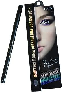 Clio Gelpresso Waterproof Pencil Gel 007 Liner, Golden Black, 0.5 Gram