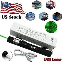 Violetta Shop LOT 100 High Power strong best Green burning Pointer Military Beam Pen+Star Cap USA