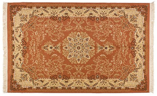 Lifetex.eu Hochwertiger Orientteppich Täbriz-Muster (ca. 150x230 cm) Klassisch maschinell hergestellt Polyacryl Beige Teppich