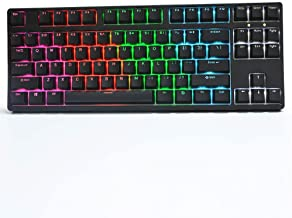 Sponsored Ad - WK87 Mechanical Gaming Keyboard RGB LED Rainbow Backlit Wired Keyboard with Red Switches for Windows Gaming...
