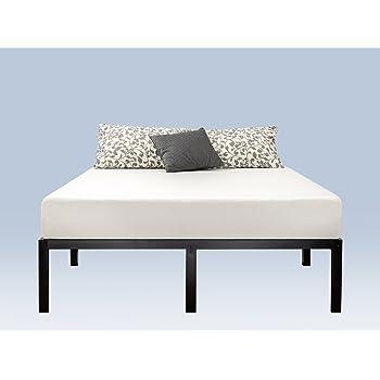 Zinus - Marco de Cama con Plataforma de Metal de 40.6 cm con Soporte de láminas de Acero/Base de colchón