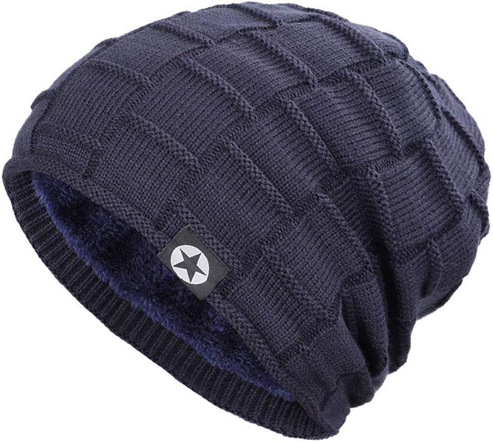Unisexe Rétro Beanie Knitted Skull Cap Tiedye Hat Hip Hop automne hiver chaud bleu