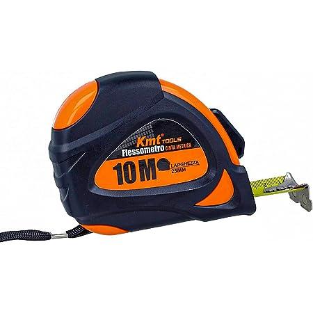 Flessometro Professionale, Metro A Nastro Professionale 10M Larghezza 25mm, Puntina Magnetica,Clip Per Cintura,Auto Bloccaggio