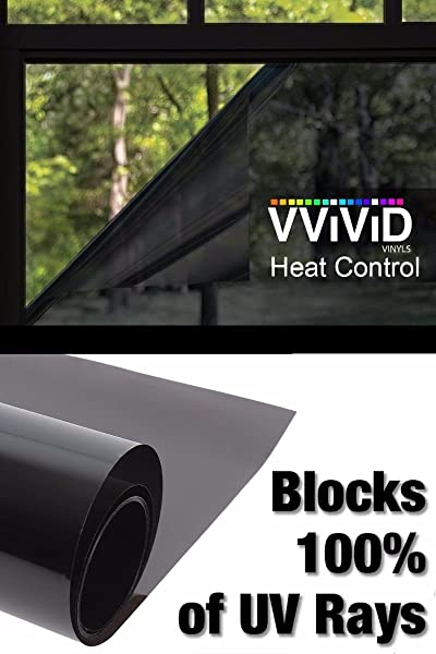 Heat Control 100 Anti UV Vinyl Wrap Dark Tint Roll For Home Residential Office Climate Control 60 Inch X 72 Inch Large Roll