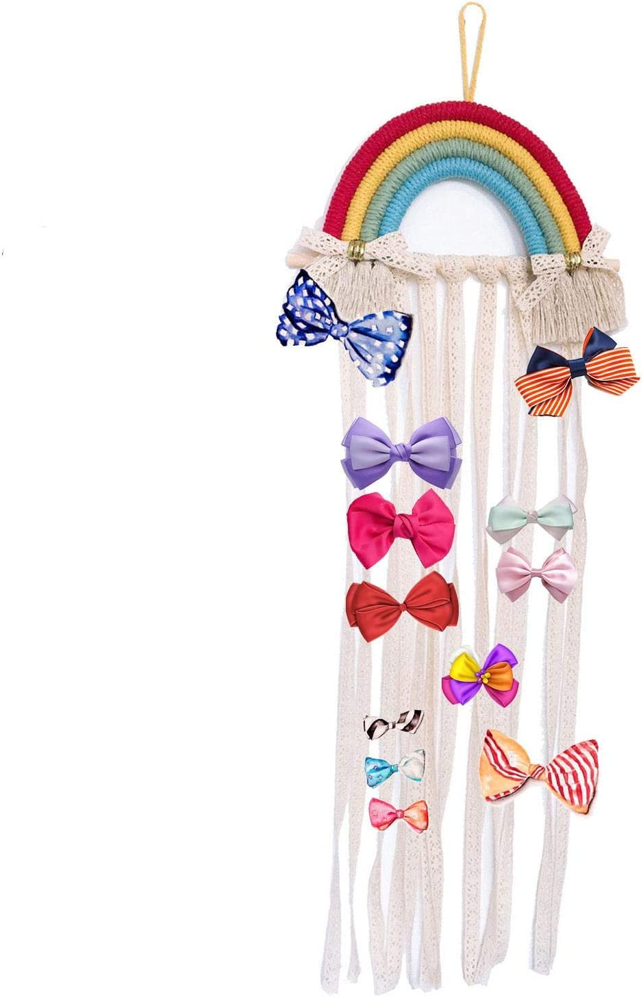 DTT Hair Bow Holder Organizer for Childrens Branded goods Hairpin Year-end annual account WallRainbow