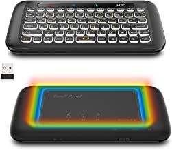 Air Mouse,Attoe Wireless Touchpad Keyboard Mouse,2.4 G Fly Air Mouse with Backlight Keyboard - Gravity Sensor - Infrared Learning,for Window XP, Vista, 7/8/10, Linux, Mac OS, Android (Black)