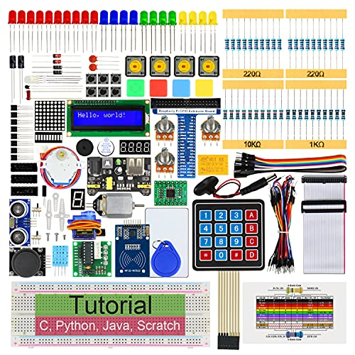FREENOVE RFID Starter Kit for Raspberry Pi 4 B 3 B+ 400, 544-Page Detailed Tutorials, Python C Java Scratch Code, 204 Items, 68 Projects, Solderless Breadboard