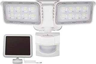 GLORIOUS-LITE Solar Security Light Outdoor, 1500LM Solar Motion Sensor LED Light with IP65 Waterproof, 6000K, Flood Light with 2 Adjustable Heads for Backyard, Pathway and Patio