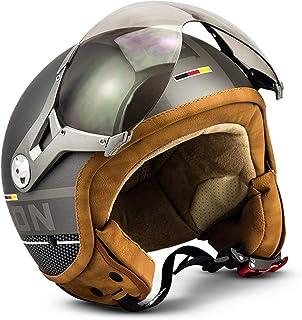 Soxon SP-325 Motorrad-Helm, ECE Visier Schnellverschluss Tasche, XS 53-54cm, Titanium