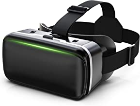 VR Headset, VR 3D Virtual Reality Headset for Movies and Games VR Glasses Goggles Compatible with iPhone & Android Phone, 2K Anti-Blue Lenses, Adjustable Pupil & Object Distance (Black)