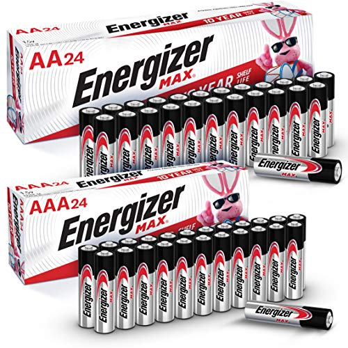 Energizer Energizer Max Aa+AAA Batteries 48 Count Combo Pack, 24 Aa + 24 AAA, 48 Count