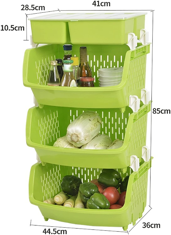 Shelf Thicken Landing Kitchen Fruit Vegetables Shelf Kitchen Supplies Corner Rack Vegetable Rack (color   3, Size   3 Layer)