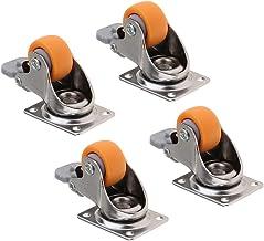 Sharplace 4 stuks 1 inch industriële pin carriage zwenkwielen