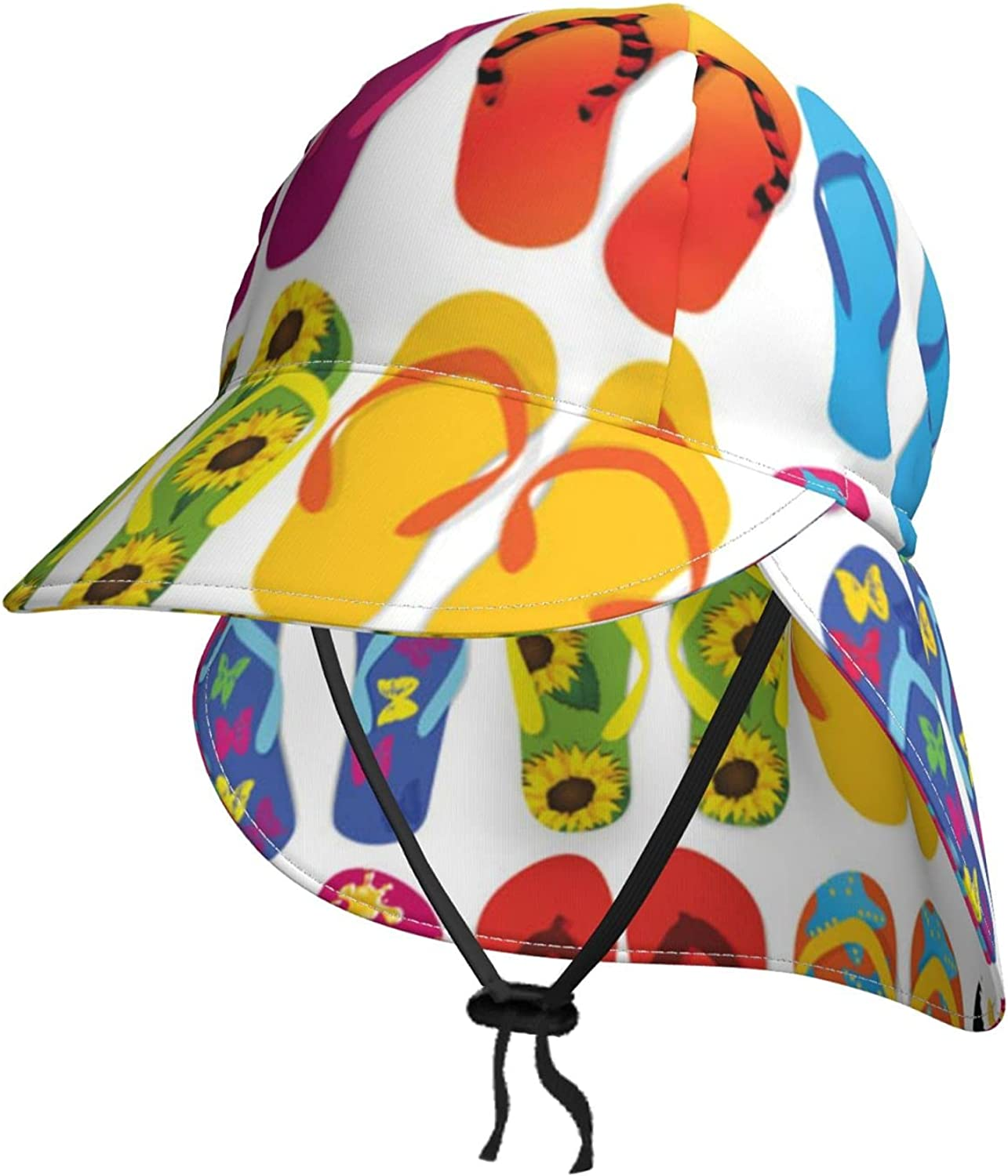 Colorful Flip Flops Kids Sun Hat Sale price Flap Summer Limited price with Neck B