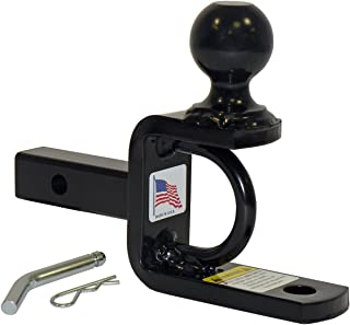 ATV/UTV Ball Mount For 1-1/4 Inch Receivers With 2 Inch Hitch Ball - Made In U.S.A.