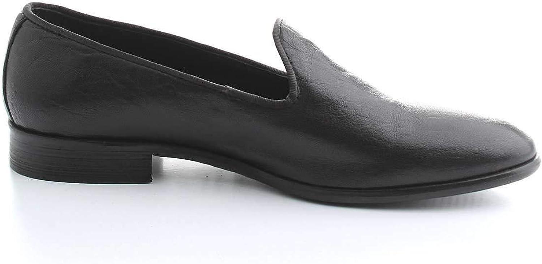 SANGUE KALZATURE ITALIANE Män's Män's Män's CUS0BLAK svart läder Loafers  billigt och högkvalitativt