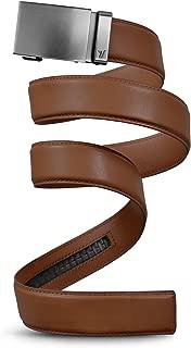 Men's Leather Ratchet Belt, 40mm Metal Collection