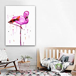 Nordic Canvas Painting Pink Flamingo Wall art Carteles e impresiones Imágenes para sala de estar Decoración del hogar Wall Canvas Art 50X70CM Sin marco