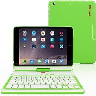 iPad Mini 1 / 2 / 3 360 Rotatable Keyboard Case, Snugg - Ultra Slim Keyboard Cover Case with Bluetooth Connectivity For Apple iPad Mini 1 / 2 / 3 Retina (Green)