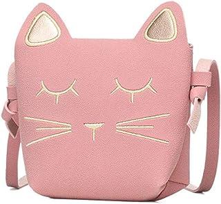 Danolt Borsette per ragazza, borsa a tracolla piccola per gatti a forma di gatto piccolo carino Borsa per regalo di comple...
