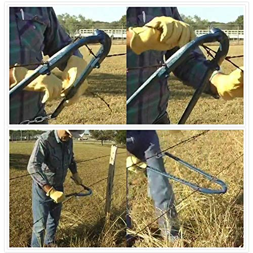 Multifunction Chain Fence Stretcher Fence Repair Tool Fence Fixer Anti-Corrosion Blue for Barbed...